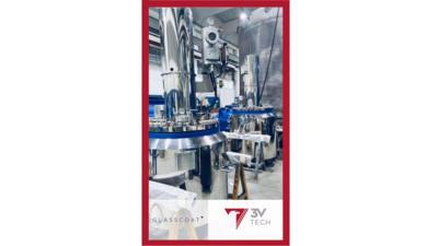 3V Tech Duplex stainless steel/carbon steel glass lined API crystaller